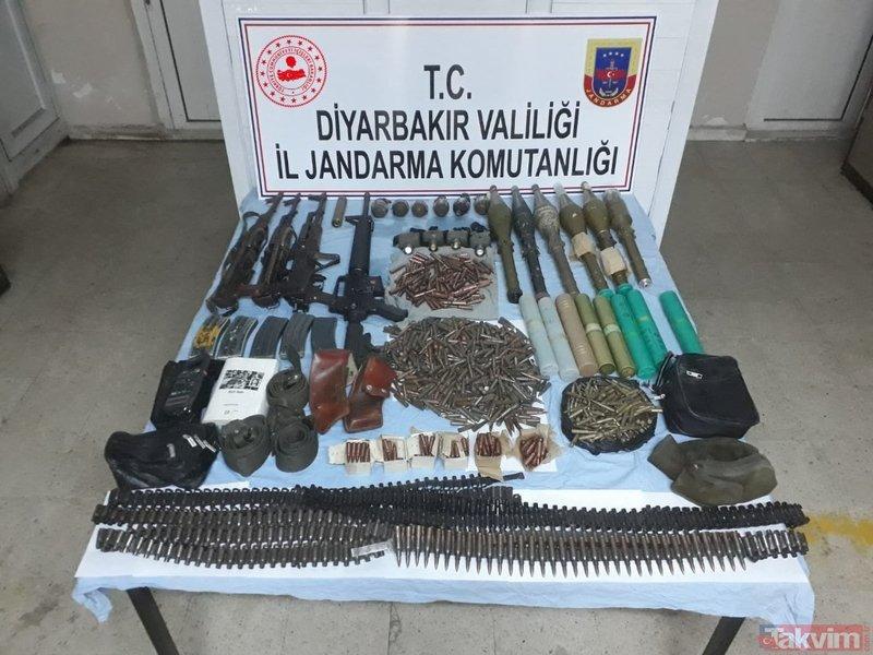 Diyarbakır'da terör örgütü PKK'ya ait 8 sığınak imha edildi