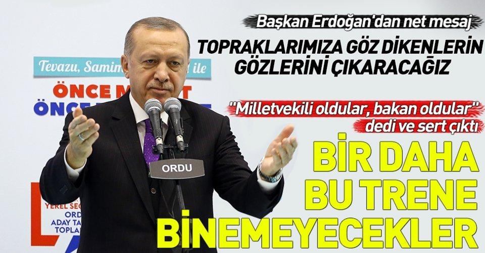 Başkan Erdoğan Ordu adaylarını açıkladı