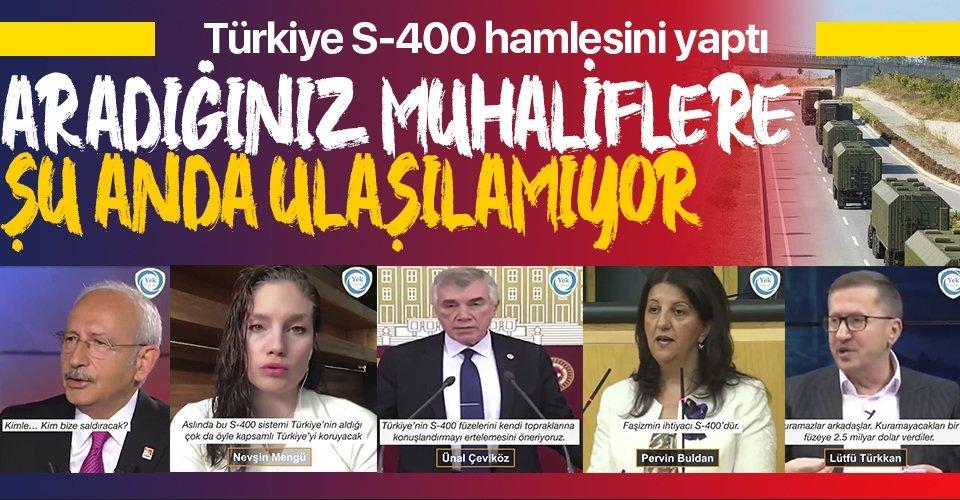 Türkiye S-400'lerin fişini takamaz diyenler burada mı?