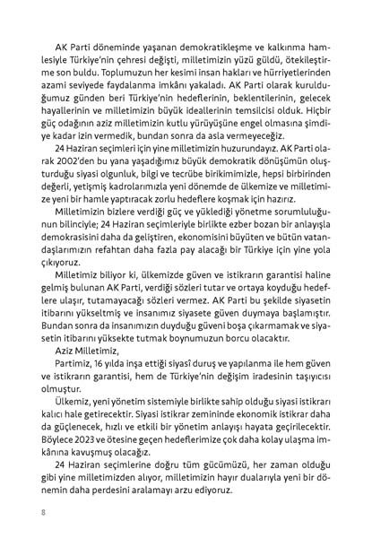 İşte AK Parti'nin seçim beyannamesinin tam metni