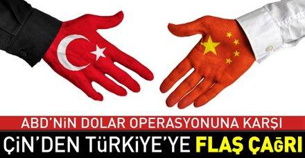 Son dakika: Çin'den Türkiye'ye 'güçleri birleştirelim' çağrısı