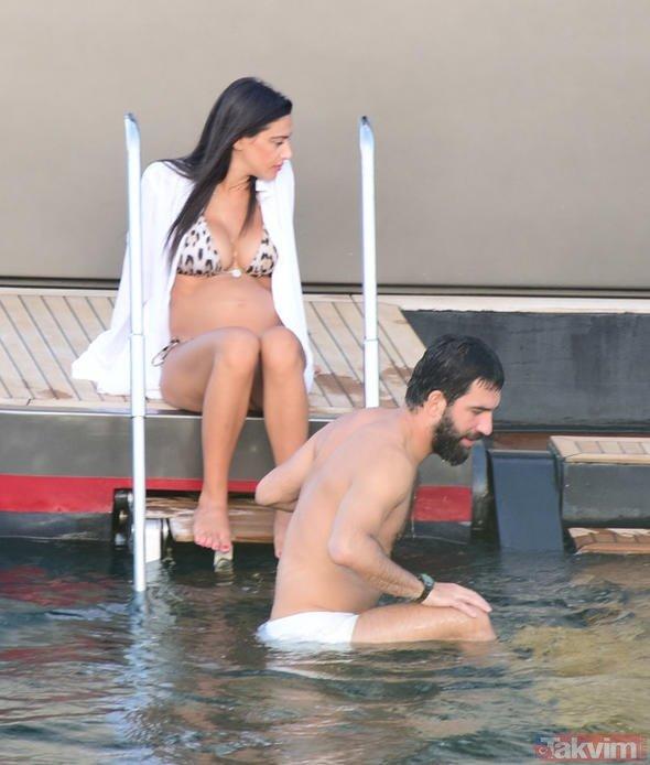 Arda Turan ve eşi Aslıhan Turanın Bodrum tatili