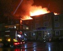Bolu Dağı Polisevi'nde korkutan yangın