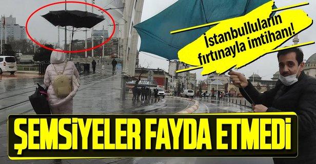 Şemsiyeler fayda etmedi!