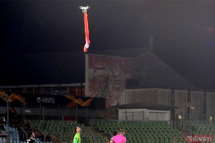 UEFA maçında skandal olay! Maçın ortasında...