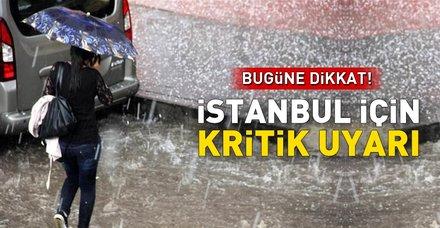 Meteoroloji İstanbulluları uyardı: Bugün yağış var