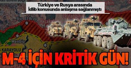 Türkiye ve Rusya'nın İdlib zirvesinden ortak devriye çıkmıştı! M-4 karayolunda kritik gün!