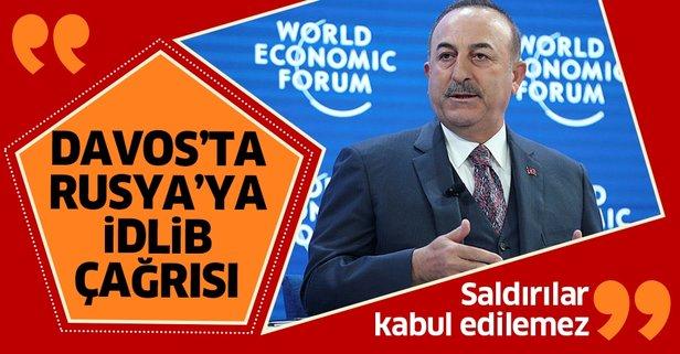 Bakan Çavuşoğlu'ndan Rusya'ya İdlib çağrısı