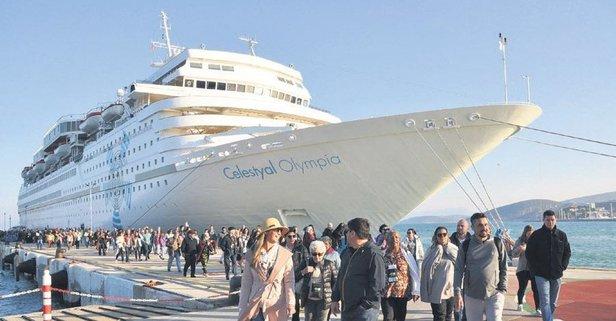 Denizden zengin turist yağdı