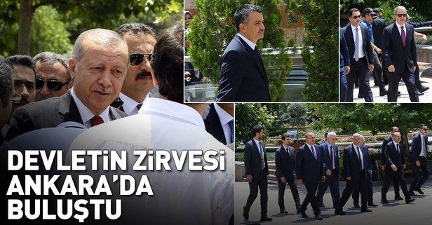 Devletin zirvesi Ankara'da buluştu