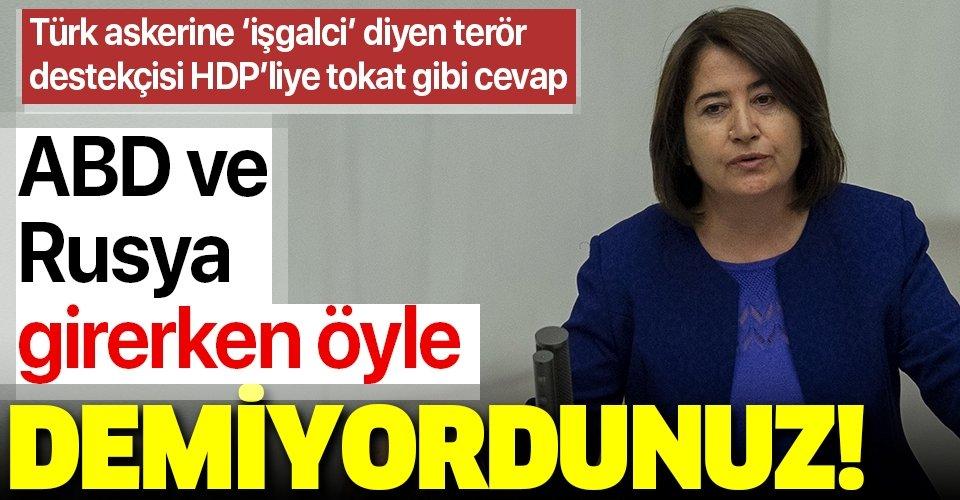 Türk askerine 'işgalci' diyen terör destekçisi HDP'liye tokat gibi cevap!