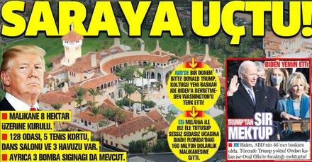 Donald Trump Beyaz Saray'dan çıktı, Florida'daki kendi sarayına taşındı
