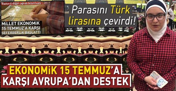 Suriyeli bir genç kız parasını Türk lirasına çevirdi