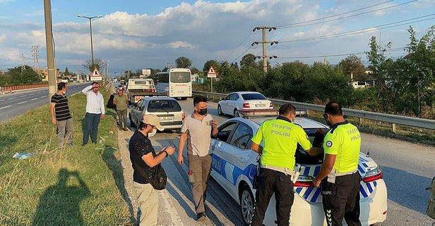 Zincirleme kazada tıkanan yolda bir kaza daha