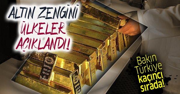 Altın zengini ülkeler! Türkiye...