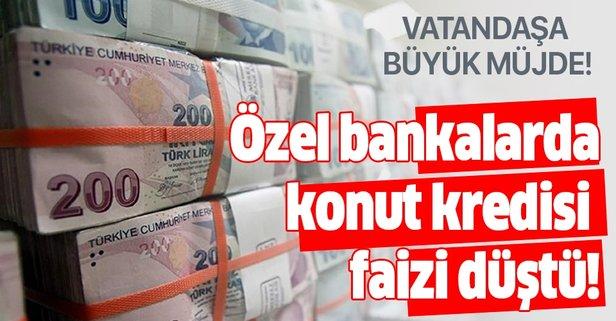 Özel bankalarda en uygun konut kredisi faizi düştü!