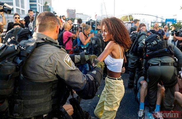 İsrail'de polis şiddeti!