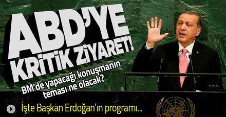 Başkan Erdoğan'ın ABD ziyaretine ilişkin açıklama