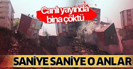 Son dakika: Kağıthane'de 4 katlı bina canlı yayında çöktü!