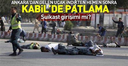 Ankara'dan Kabil'e giden uçak indikten kısa süre sonra Kabil'de patlama