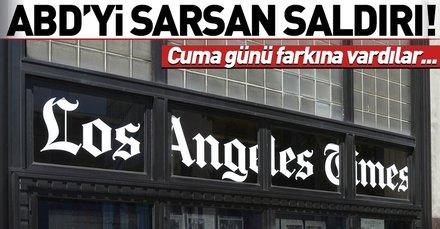 ABD'yi sarsan olay! Gazetelere siber saldırı darbesi...