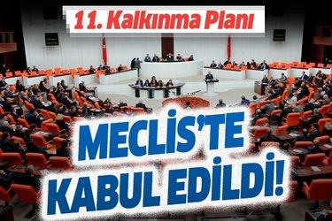 Son dakika: 11. Kalkınma Planı TBMM Plan ve Bütçe Komisyonunda kabul edildi