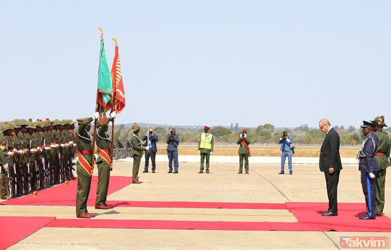 Başkan Erdoğan Zambiyada böyle karşılandı