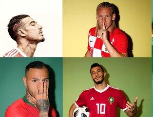 Dünya yıldızlarından Dünya Kupası'na özel pozlar
