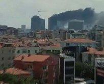 Ümraniye'de 29 katlı binada yangın!