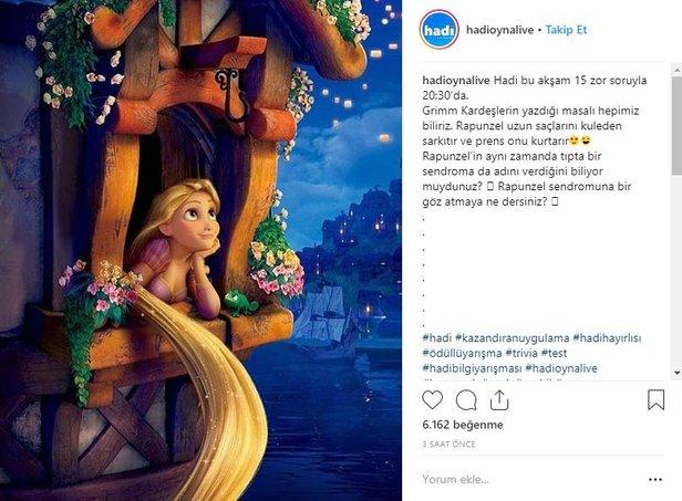 5 Eylül Hadi Ipucu Sorusu Nedir Rapunzel Sendromu Nedir Takvim