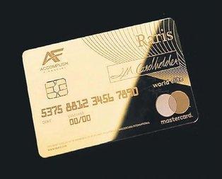 Altından banka kartı