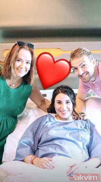 Şükran Ovalı sosyal medya hesabından doğum fotoğraflarını paylaştı!
