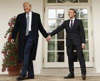 Trump Macron'u böyle götürdü
