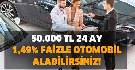Bu tarih son gün! 50.000 TL 24 ay 1,49% faizle otomobil alabilirsiniz! Renault, Fiat, Hyundai, Kia, Citroen ve Dacia...