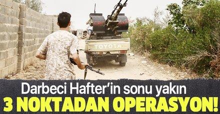 Son dakika: Libya ordusu Terhune kentine üç noktadan operasyon başlattı!