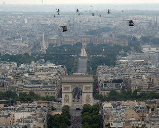 Fransa'da dikkat çeken görüntü