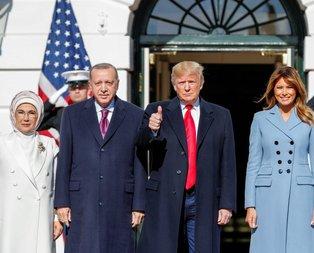 Trump, Başkan Erdoğan'ı resmi törenle karşıladı