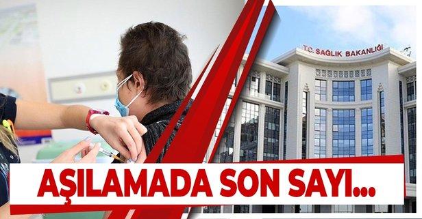 Sağlık Bakanlığı aşılamada son rakamı açıkladı