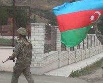 Talış köyünde Azerbaycan bayrakları dalgalanıyor!