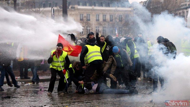 Fransa'da sular durulmuyor! Paris'teki gösteride 167 gözaltı