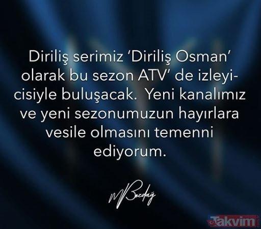 Son dakika haberi: Diriliş Osman'da yılın transfer bombası! Diriliş Osman hangi kanalda yayınlanacak?