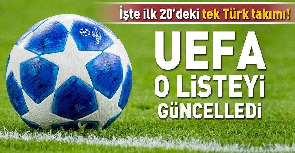 UEFA kulüpler sıralamasını güncellendi