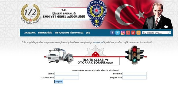 EGM trafik cezası sorgulama sayfası - Takvim