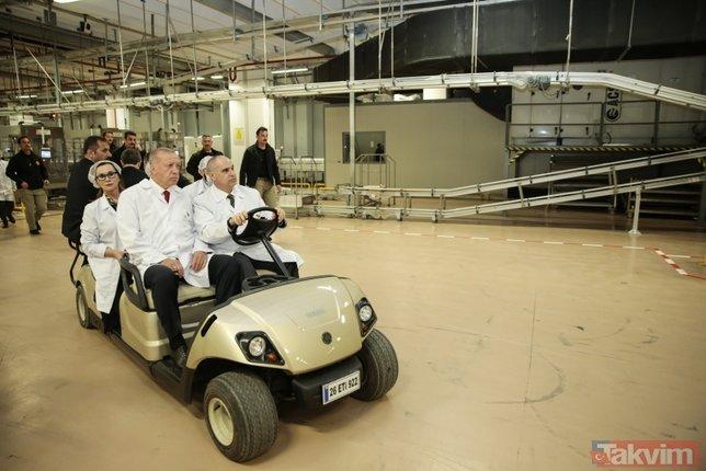 Başkan Erdoğan Eskişehir'de ETİ Fabrikası'nı ziyaret etti