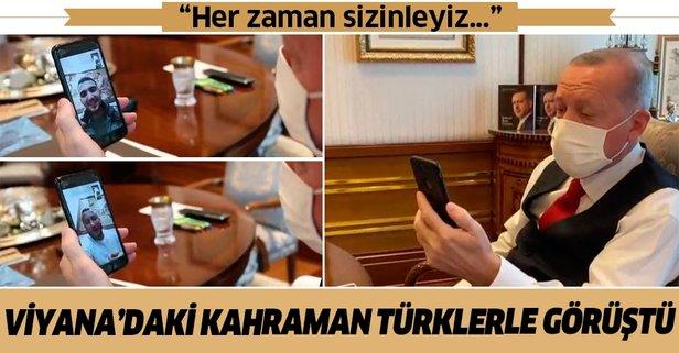 Erdoğan kahraman Türklerle konuştu