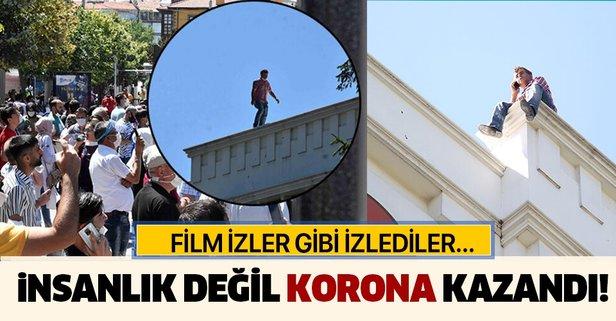 Konya'da pes dedirten görüntü! Film izler gibi...