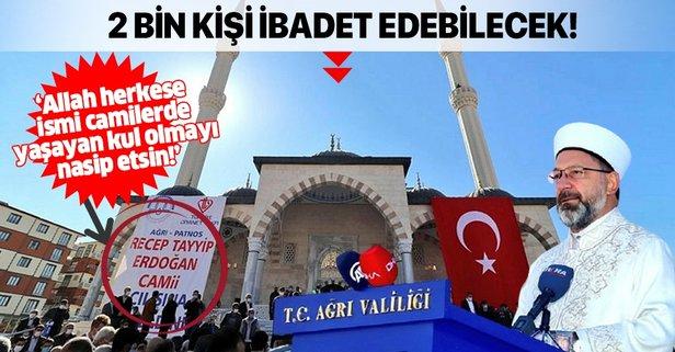 Recep Tayyip Erdoğan Camii açıldı!