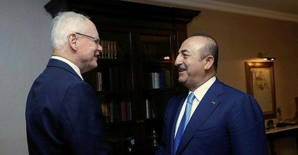 Çavuşoğlu, ABDnin Suriye Özel Temsilcisini kabul etti