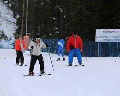 Anadolunun yüce dağında kayak keyfi