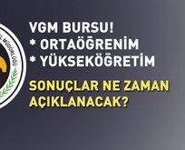 VGM burs sonuçları ne zaman açıklanacak?